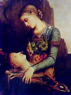 オルフェウスの首を持つトラキアの娘@モロー